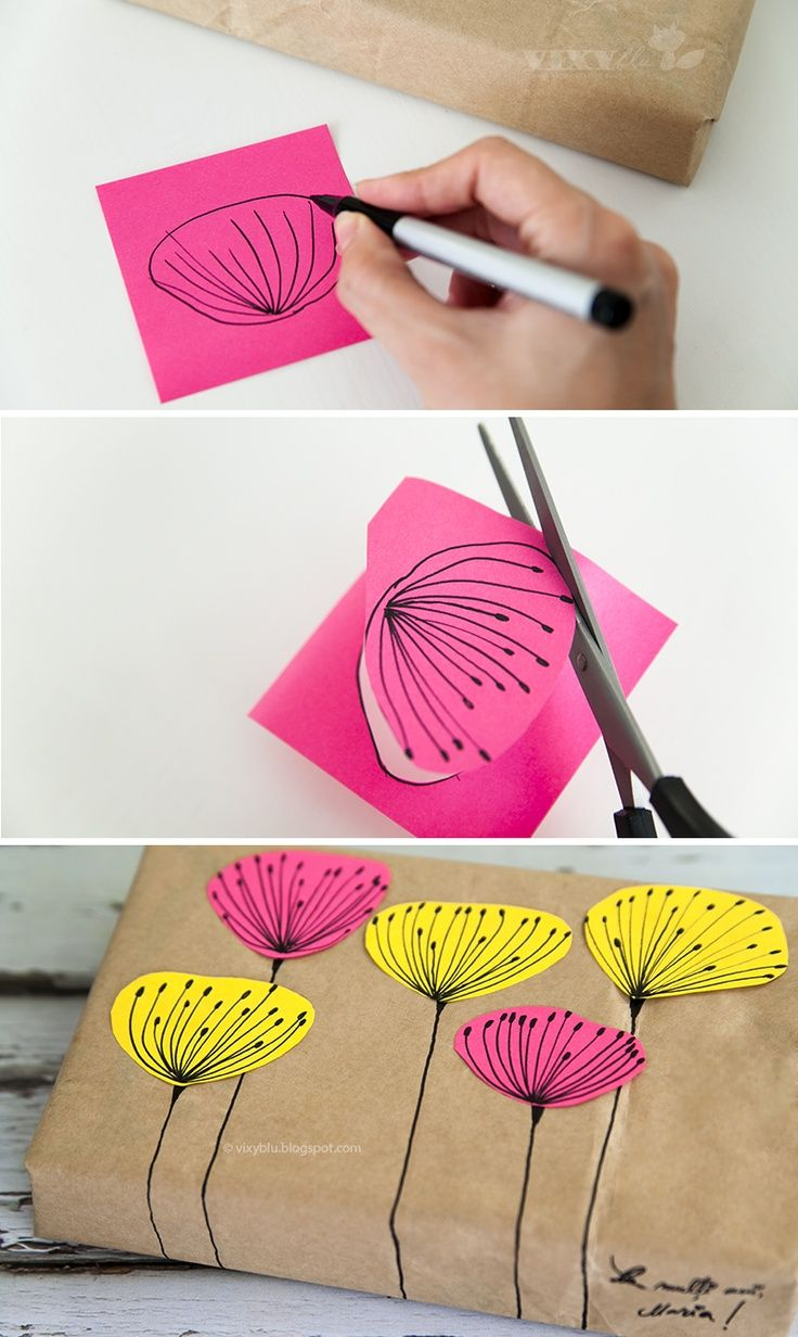 DIY Freehand Plant Gift Packaging .
