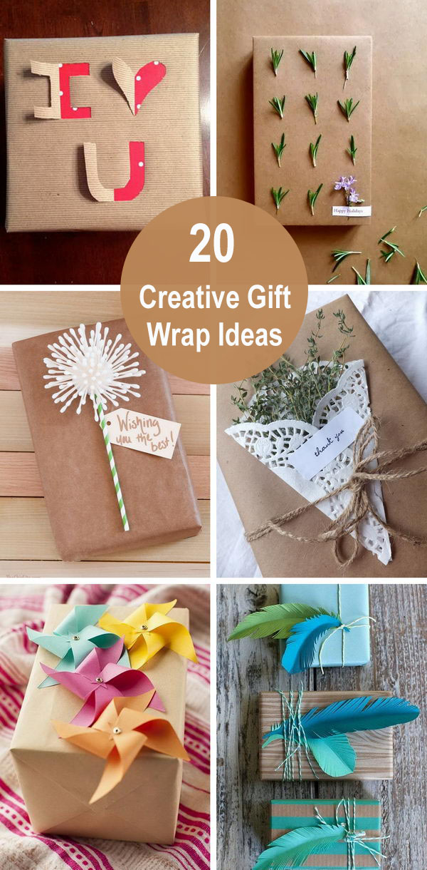 20 Creative Gift Wrap Ideas.