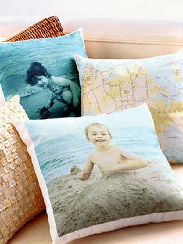 Family Photo Throw Pillows.