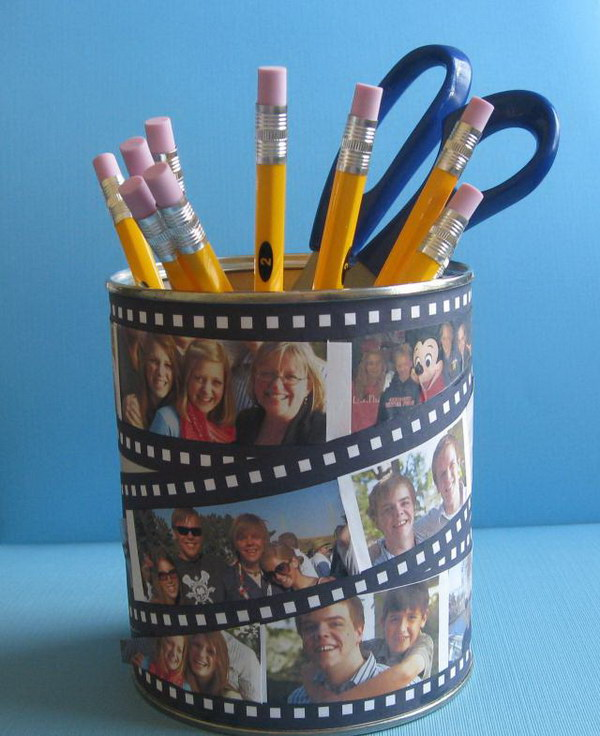 Photo Decorated Pencil Cup.