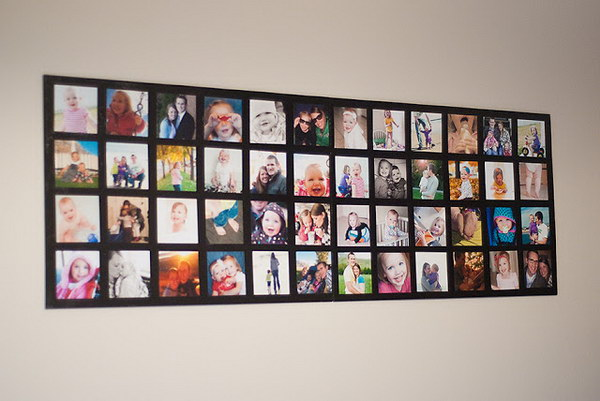 Wall Picture Collage.  This is a creative and fantastic gift idea for your bestfriend who is a big fan of photography and loves showing some amazing pictures on the wall.