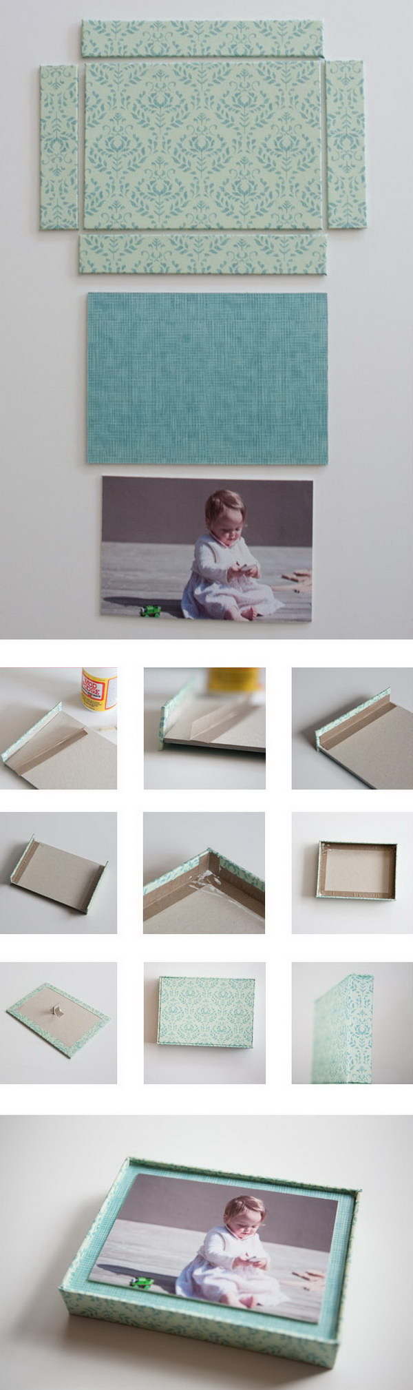 DIY Box Frame Photo. Get the tutorial
