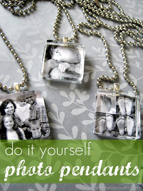DIY Photo Pendants. See how to make it