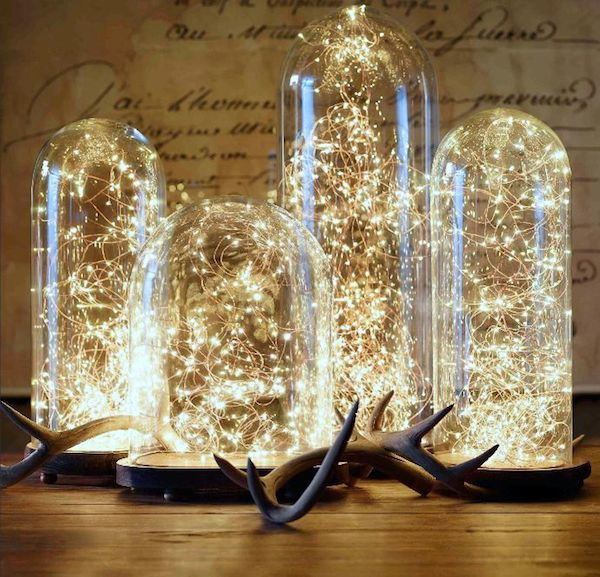 DIY Lighting Bell Jars.