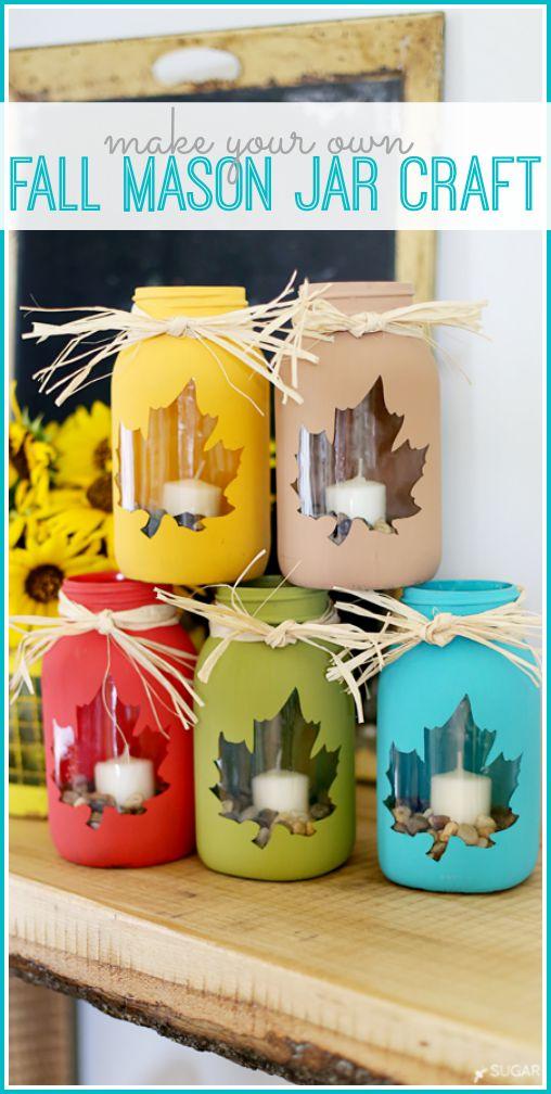 Fall Mason Jar Craft.