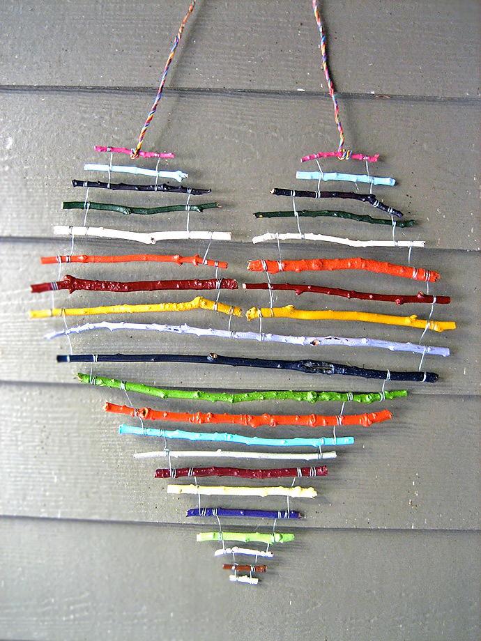 Rainbow Stick Heart.