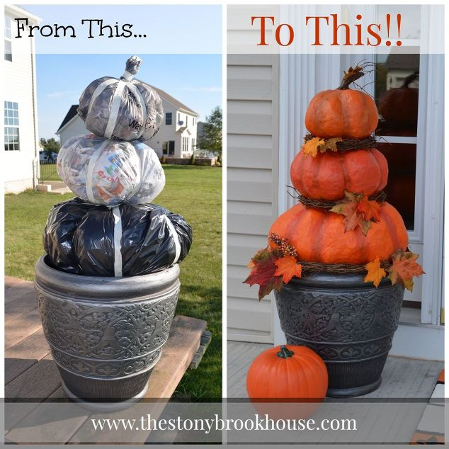 Cheap Outdoor Pumpkin Craft.