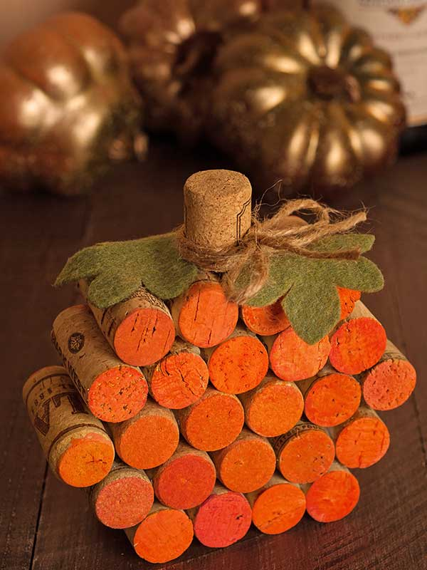 Wine Cork Pumpkin.