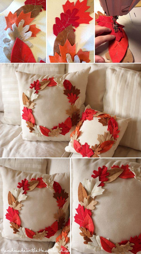 Fall Leaf Pillows.