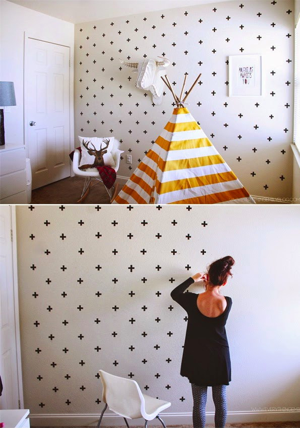 20 diy washi tape wall art ideas - Decorar paredes facil ...