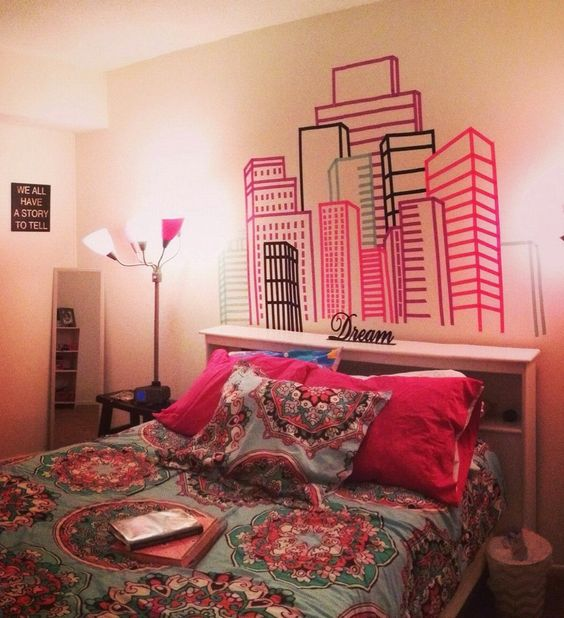 Washi Tape Wall City.