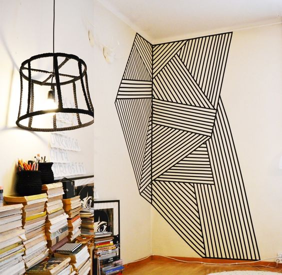 Geometrical Washi Tape Wall Art.