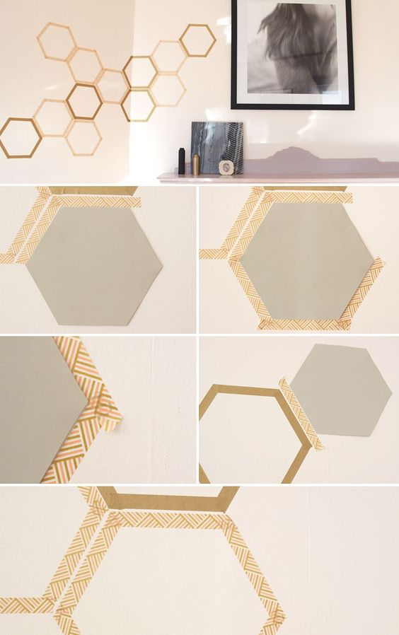 20 Diy Washi Tape Wall Art Ideas