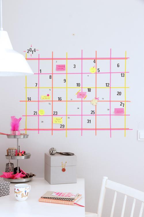 Washi Tape Calendar.