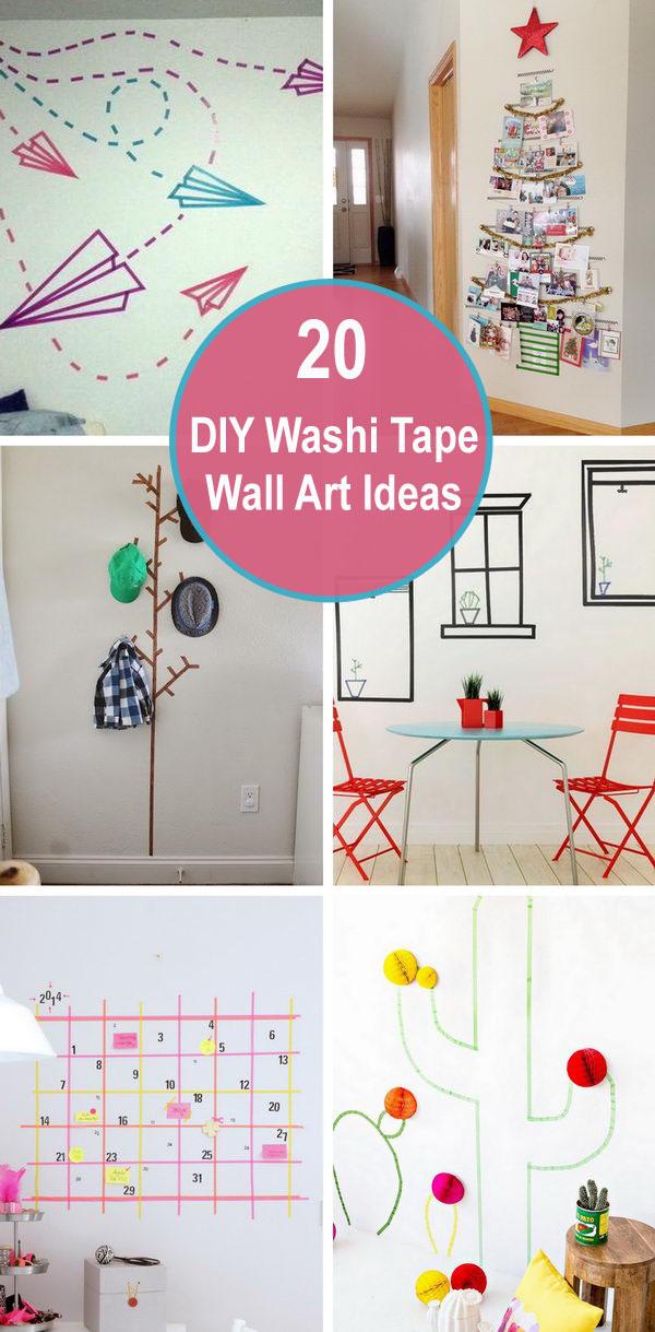 20+ DIY Washi Tape Wall Art Ideas.