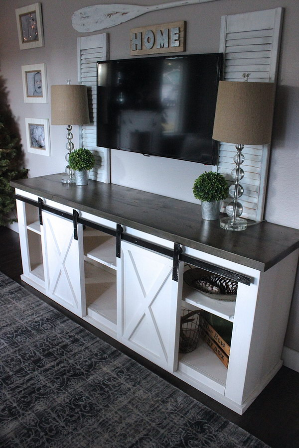 Sliding Barn Door Console.