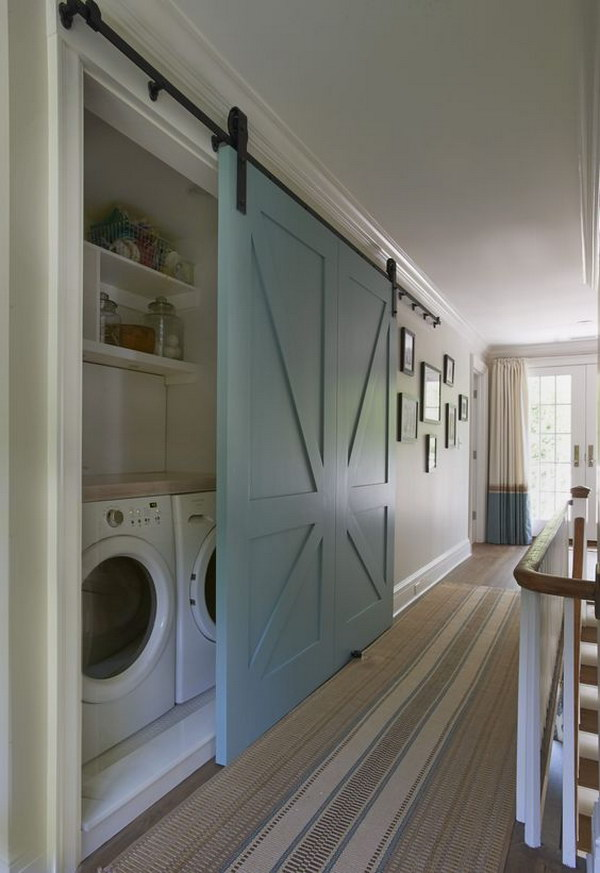 Barn Door For Laundry Room.