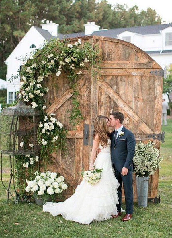 Rustic Barn Door Wedding Backdrop.