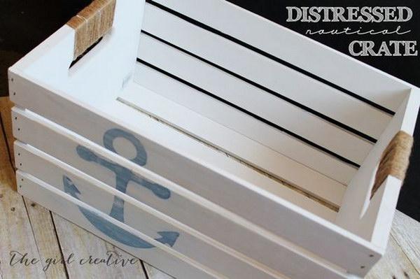 DIY Distressed Nautical Crate Tutorial