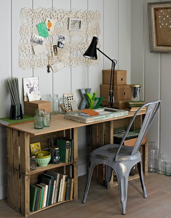 DIY Crate Desk