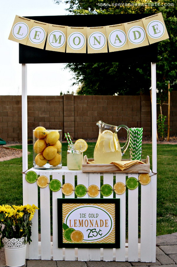 DIY Lemonade Stand Made with Crates