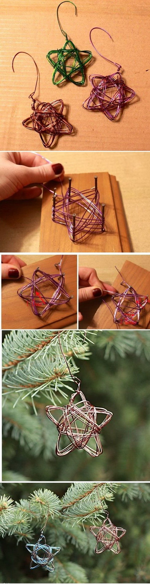 Handmade Star Wire Ornament.