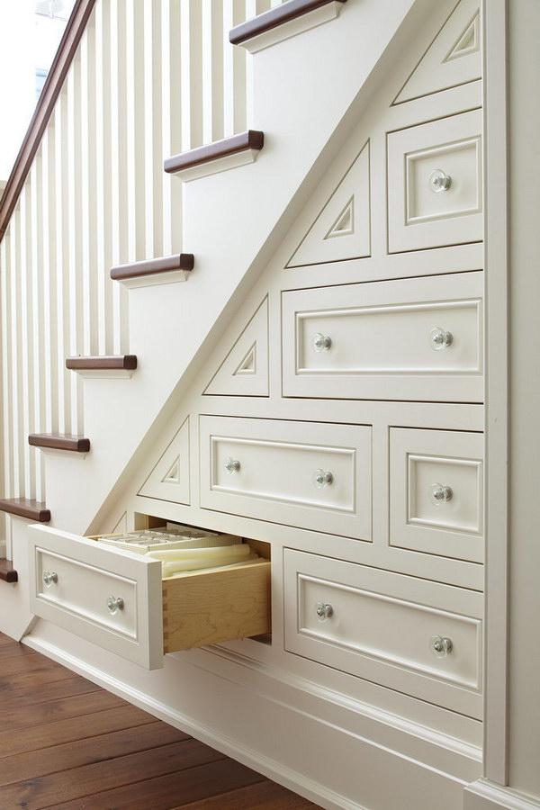 Hidden Stair Storage.