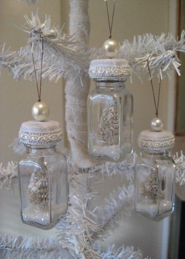 christmas ornaments made out of salt pepper shakers