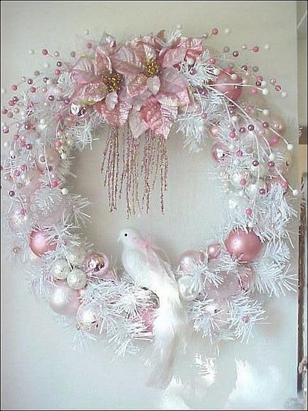 Shabby Christmas Wreath - Awesome Shabby Chic Christmas Decorations