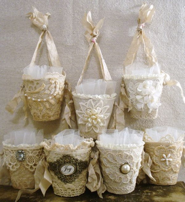 Shabby Chic Candy Cup Ornaments.