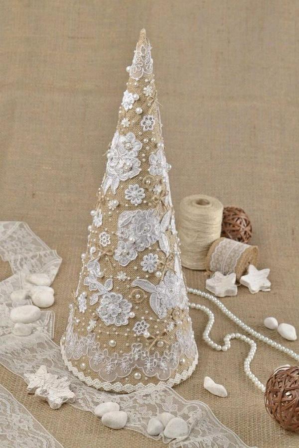 Burlap Christmas Tree Pinterest