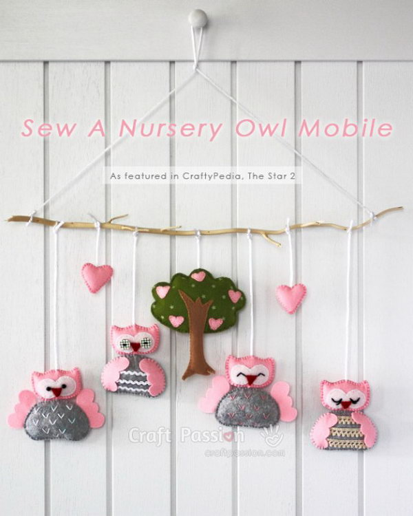 DIY Owl Mobile.