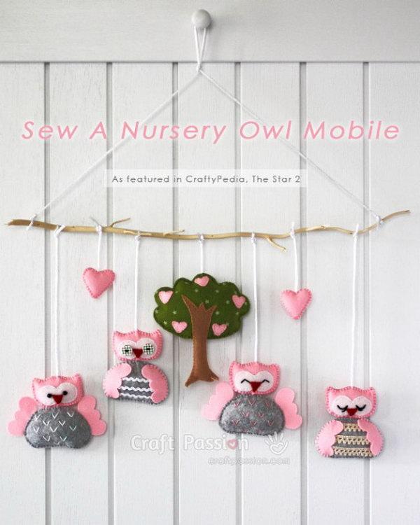 DIY Owl Mobile.