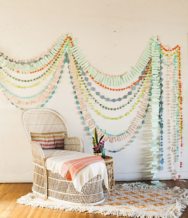DIY Wall Garlands for Baby Room's Decorating.