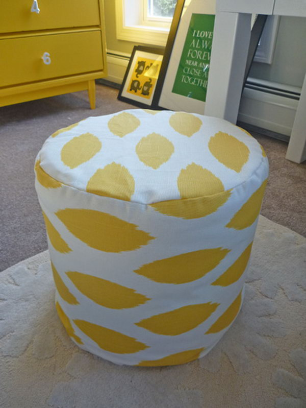 DIY Nursery Ottomans.