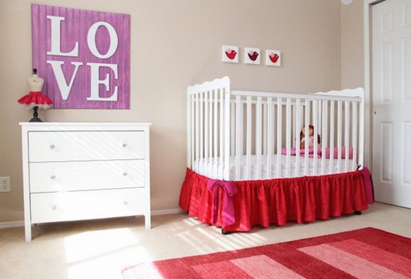 DIY Cute Crib Skirt.