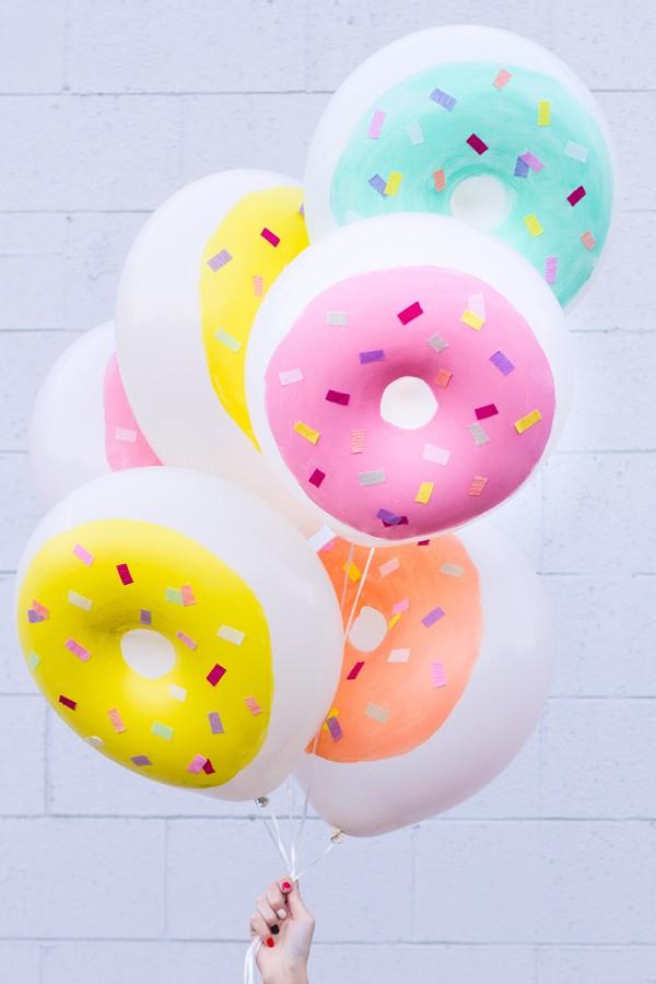 DIY Donut Balloons.