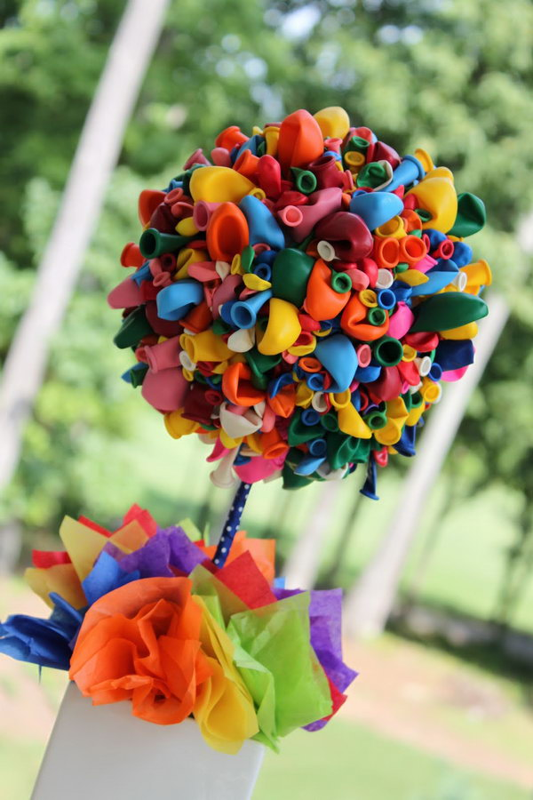 Balloon Topiary & 20+ Beautiful DIY Balloon Decoration Ideas