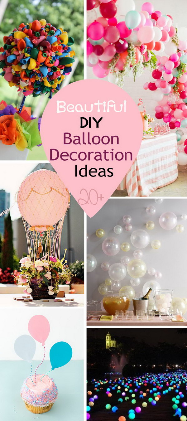 Beautiful diy balloon decoration ideas