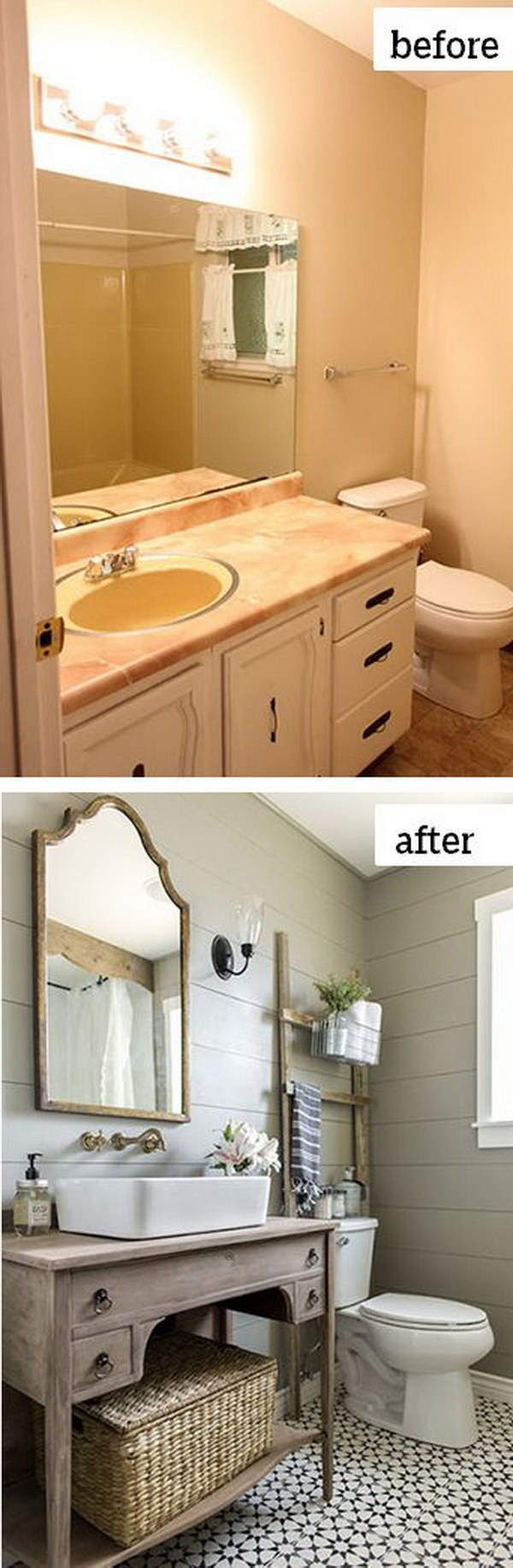 Before and after makeovers 20 most beautiful bathroom for Bathroom renovation designs ideas