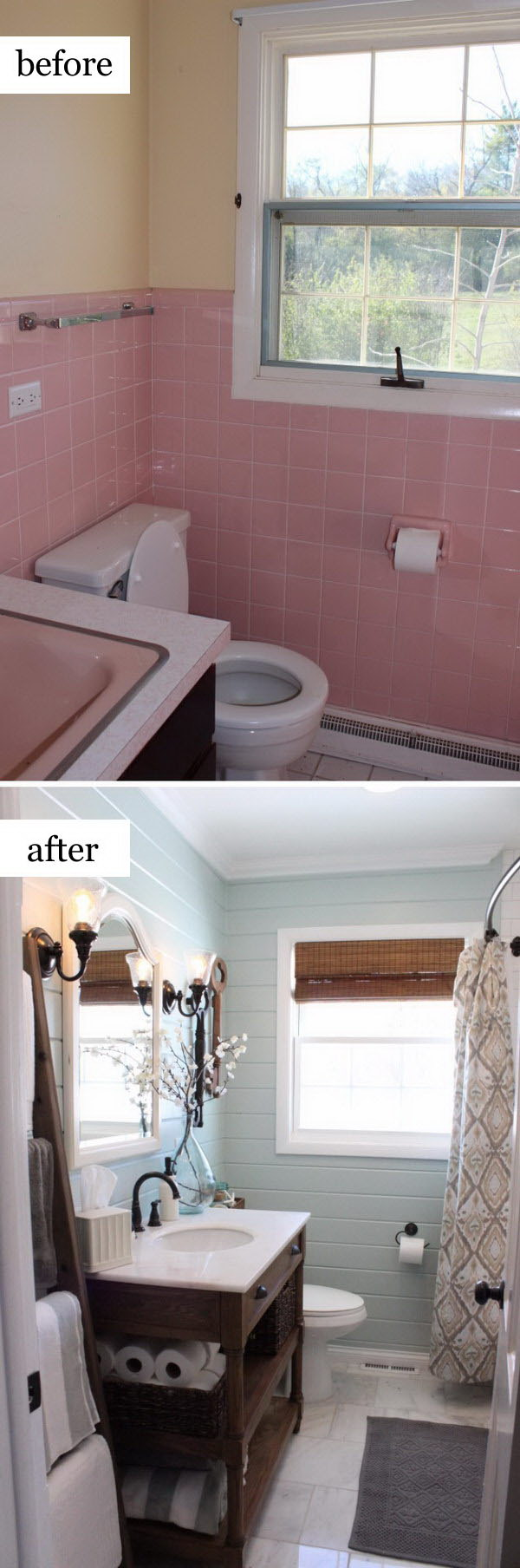 Rustic Chic Bathroom Makeover.