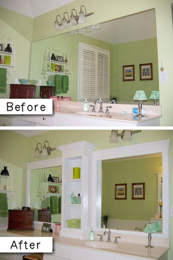 Add Molding to a Boring Bathroom Mirror.
