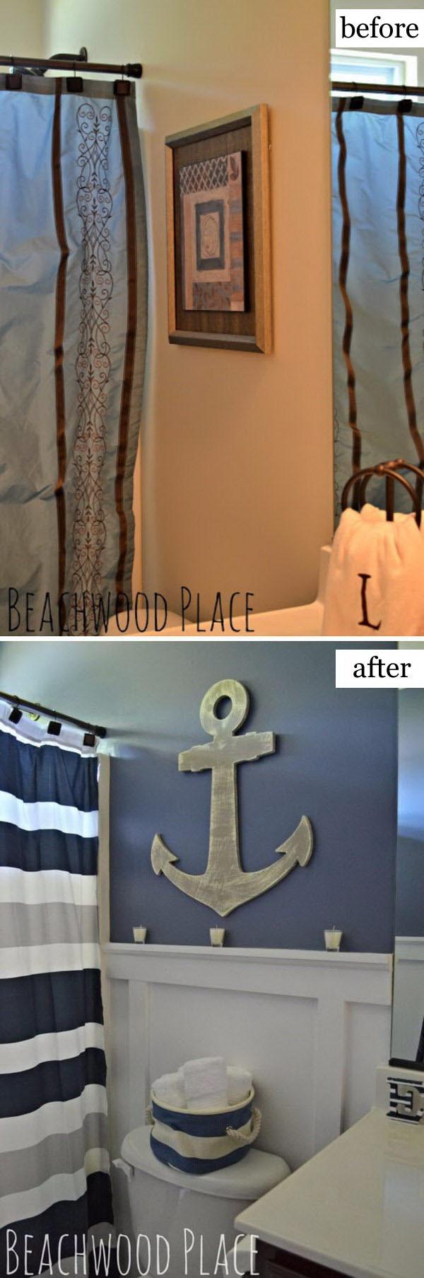 Nautical Bathroom Makeover.