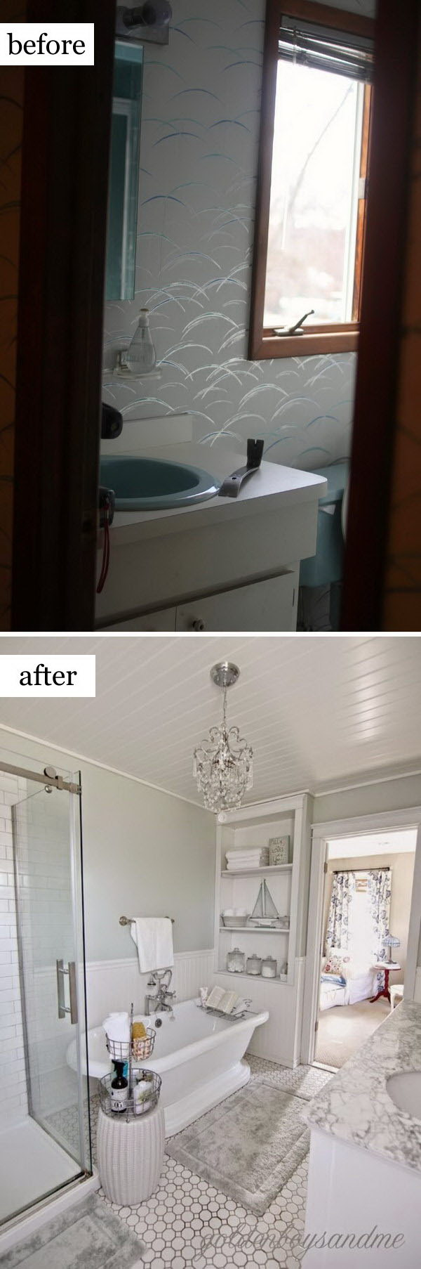 Before And After Makeovers Most Beautiful Bathroom Remodeling Ideas - Bathroom remodel materials list
