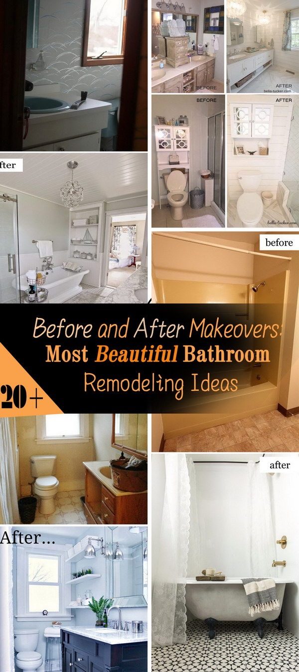 Most Beautiful Before and After Bathroom Remodeling Ideas!