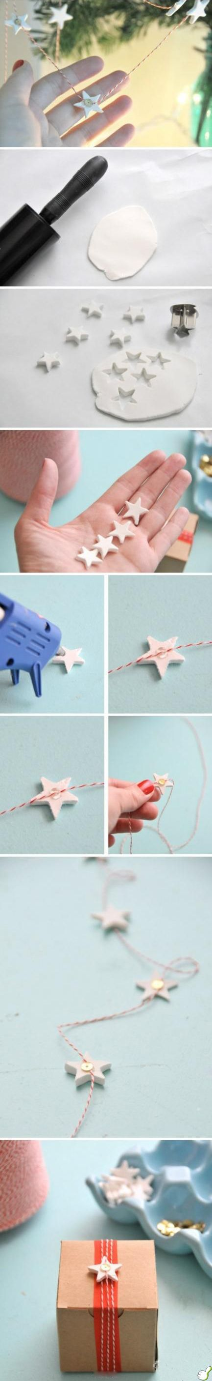 DIY Scandinavian Inspired Star Garland.