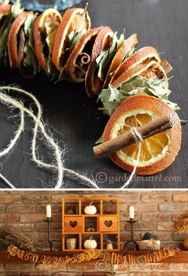 DIY Dried Orange Garland.