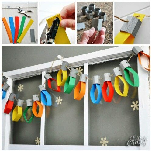 Christmas 'Lights' Paper Garland.