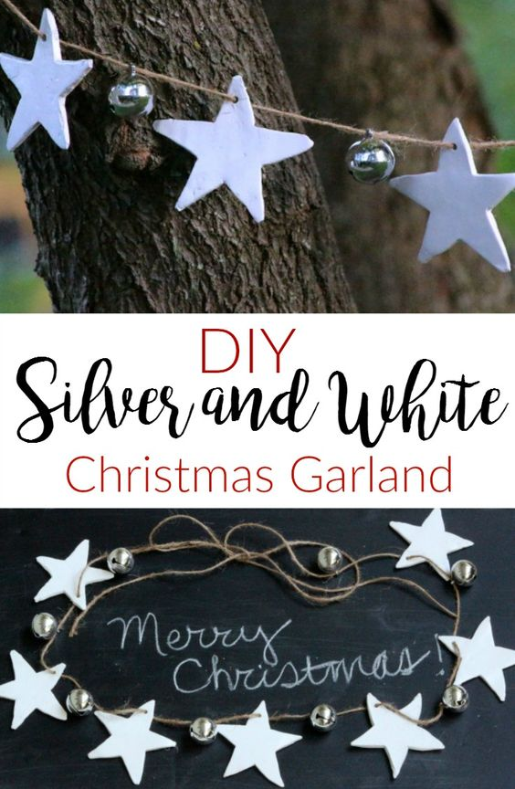 Silver & White Christmas Garland.