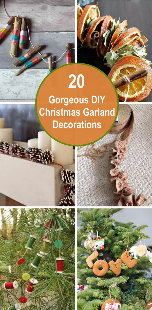 20 Gorgeous DIY Christmas Garland Decorations.